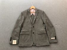 Red Fleece Herringbone Cotton-Wool Blazer | Size 36R | New