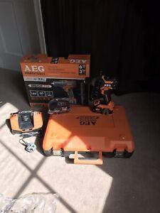 Aeg Pro 18v Brushless Hammer Drill Kit 2 Pro Lithium Ion Battery's & Charger &
