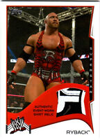 WWE Ryback 2014 Topps Event Used Shirt Relic Card 3 Color