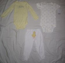 Infant Baby Girls CARTERS 2 Bodysuit Shirts & Leggings Outfit - size 24 months