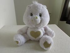 "Care Bears GOLD WHITE TENDERHEART 25th SWAROVSKI CRYSTAL EYES 11"" Plush Stuffed"