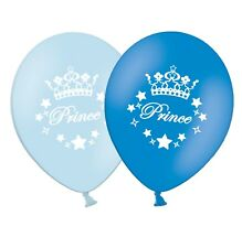 """Prince - 12"""" Printed Light & Dark Blue Assorted Latex Balloons pack of 12"""