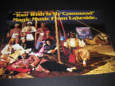 Lakeside Your Wish Is My Command original 1981 Soul Promo Poster Ad mint cond