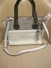 Cole Haan Leather Satchel Shoulder Bag White , Grey and Black Retail $328.00