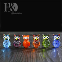 Hand Blown Miniature Qwls Art Glass Animal Figurine Collection Gifts Set 6pcs