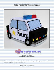 Police Car Tissue Topper-Plastic Canvas Pattern or Kit