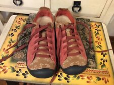 Keen pink Brown Leather Lace Up Casual Athletic Sneakers Shoes Women's US- 6.5
