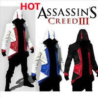 2019 Assassins Creed Hoodie Men's Trench Coats Casual Pullover Jacket Sweatshir