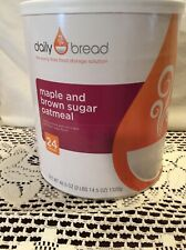 Daily Bread  survival food Maple & Brn Sugar Oatmeal 24 Servins #10 Can