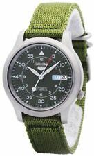 Seiko 5 SNK805K2 Automatic Green Nylon Canvas Strap Analog Wristwatch for Men