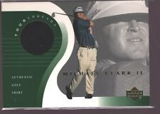 MICHAEL CLARK II 2001 UPPER DECK UD TOUR THREADS PGA GOLF SHIRT JERSEY PATCH $12