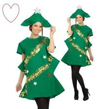 Adult Christmas Tree Costume Ladies Outfit Novelty Xmas Tree Fancy Dress