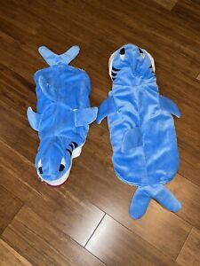 Lot Of 2 HALLOWEEN Dog Puppy Shark Costume Size S & M Baby Shark Momma Shark