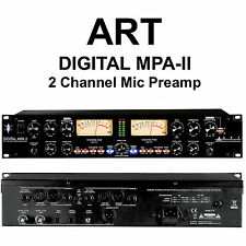 ART DIGITAL MPA-II 2 CHANNEL RACKMOUNT LIVE and STUDIO MIC PREAMP