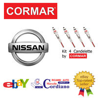 KIT 4 CANDELETTE NISSAN PICK UP 2.5 D TD DA ANNO 98 CORMAR