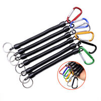 Fishing Lanyard Spring Rope Accessories Plastic Retractable Anti-lost keychain z