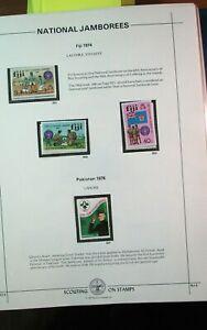 Boy Scout Stamps Nat'l. Jamboree Fiji, Pakistan 1974,1976 Mint H185