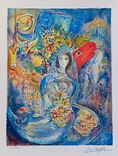 Marc Chagall Bella Facsimile Signed & Numbered Giclee Art