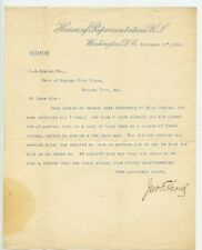 Typed Signed Letter Missouri Congressman John Taddeus Heard 1885-1895