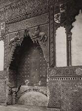1922 Vintage SPAIN Mosque Capilla San Fernando Cordoba Interior Art By HIELSCHER