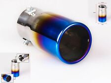 Universal Car Exhaust Tail End Muffler Tip Pipe Stainless Steel Neo Chrome Round