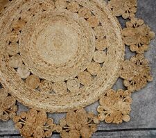 NEW JUTE ROUND RUG | Natural Handmade Sisal | Hemp Carpet | 150 CM