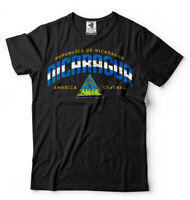 Nicaragua T-shirt Nicaraguan Flag heritage Independence day coat of arms Tee