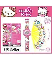 20 Image Hello Kitty Cat Doll Figure Projector Projection Light Wrist Watch Toy