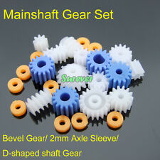 Mainshaft Gear Set Worm/Bevel Gear/Axle Sleeve/D-shaped shaft Gear 0.5 Modulus
