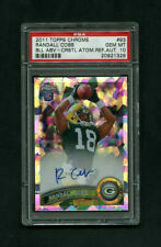 2011 Randall Cobb Topps Chrome Crystal Atomic Refractor RC Auto /50 PSA 10 GEM