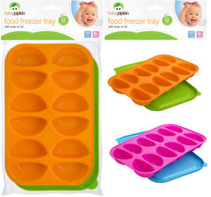 Food Freezer Trays Pots Cubes With Snap On Lids Baby Weaning Storage Containers