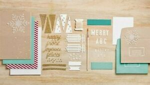NEW Stampin' Up WATERCOLOR WINTER Simply Created (20) CARD KIT Christmas Holiday