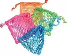 12pcs Lot Mini Neon Mixed Color Drawstring Mesh Bags