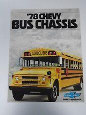 VINTAGE 1978 CHEVROLET TRUCKS SCHOOL BUS CHASSIS DEALERSHIP SALES BROCHURE B