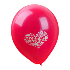 Printed Hearts Red Latex Balloons Romantic Valentine's Day Love Shaped - 10 Pcs