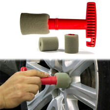 Lug Nut Wheel Cleaning Brush With 3 Replacement Sponge Heads For Car Auto