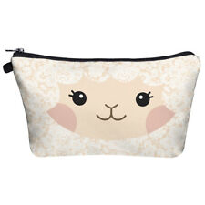 cute lace pattern sheep cosmetic makeup bag make up case printed