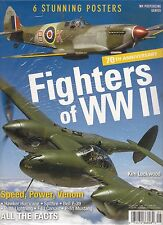 Sealed FIGHTERS of WWII 70th Anniversary 6 STUNNING POSTERS Hawker Hurricane WP