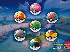 Pokemon Sword and Shield Pokeballs and Rare Items **BONUS IN DESCRIPTION**