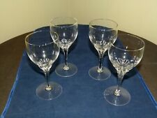 "Set Of Four Belfor Exquisite Wine Glasses 5 7/8"" Tall"