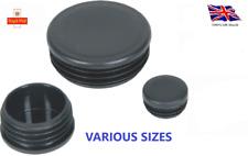 Round Plastic Black Blanking End Cap Caps Tube Pipe Inserts Plug Bung