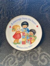 Avon 1990 Message From The Heart Mothers Day Decorative Porcelain Plate