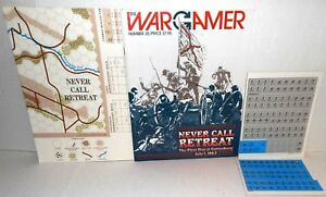 WARGAMER Mag w/Game Issue #25 ACW Never Call Retreat 1st Day Gettysburg op