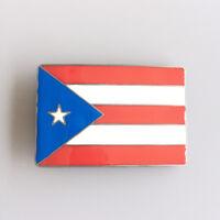 Men Belt Buckle Puerto Rico Flag Belt Buckle Gürtelschnalle Boucle de ceinture
