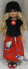 "BETSY McCALL 14"" Doll Clothes #42 Hat, Top & Skirt Set  13"" LES CHERIES Corolle"