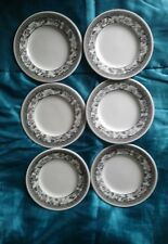 "WEDGWOOD FLEUR DAMASK  Set of six 6"" side plates , Excellent unused"