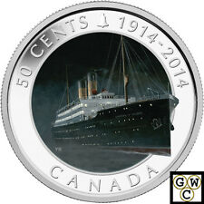 2014 'RMS Empress of Ireland' Colorized 50-Cent Coin (Silver Plated) (13898)