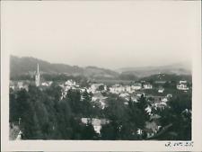 Allemagne, Vue générale d'une ville et son église, 30 octobre 1928, vintage