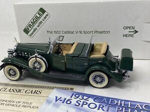 Danbury Mint 1:24 1932 Cadillac V16 Sport Phaeton Box Title