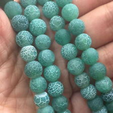 """8mm Natural green coloade Round Gems Loose Beads 15""""AAA"""
